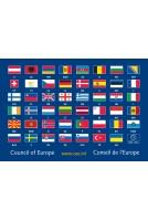 carte postale 47 drapeaux