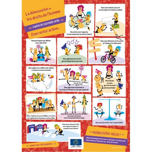 """Assez Affiche """"Charte du Conseil de l'Europe sur l'éducation à la  GI61"""