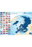 Carte des 47 Etats membres